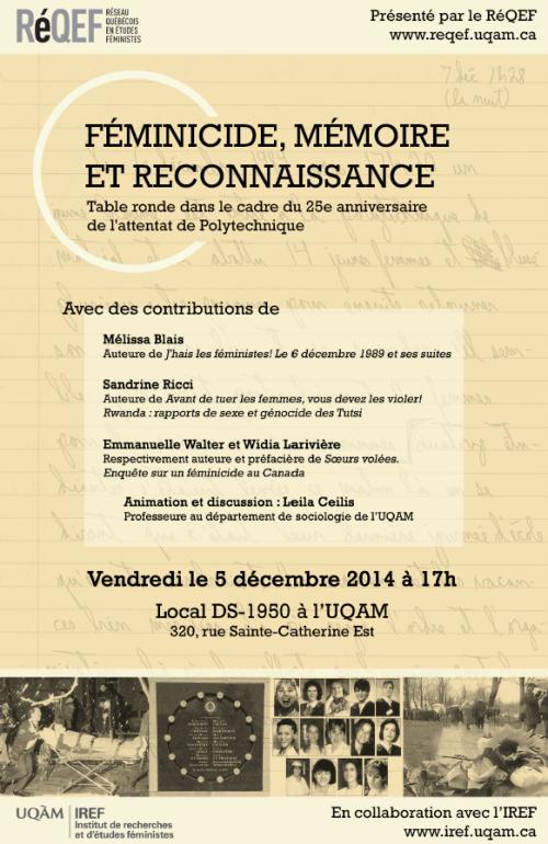 Affiche Table ronde féminicide_2014_12_05