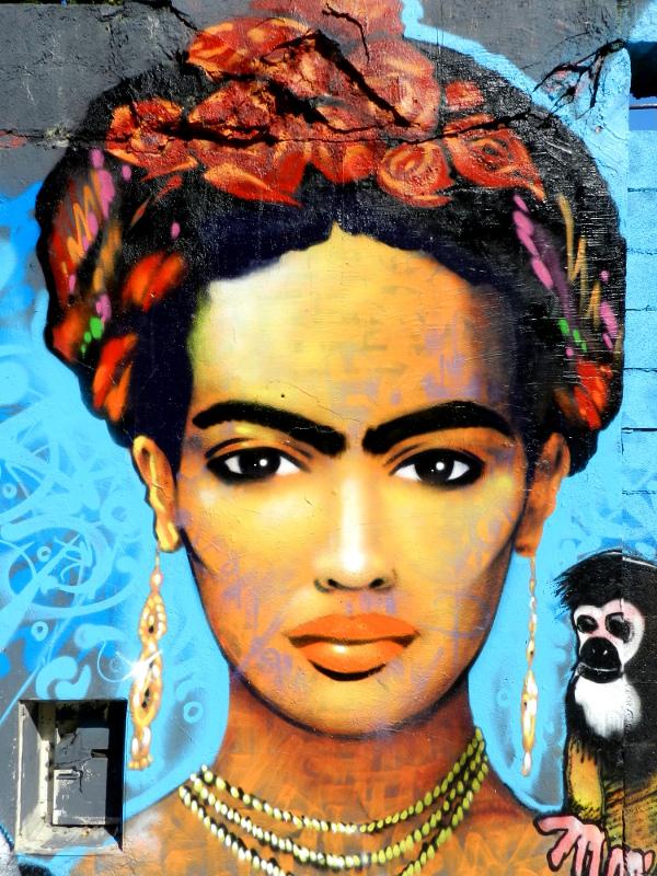 portrait de frida kahlo marko93 rue de l ourcq 19 232 me arrondissement 2015 entre les
