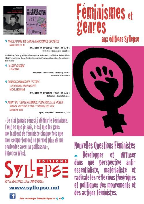 Féminismes et genre
