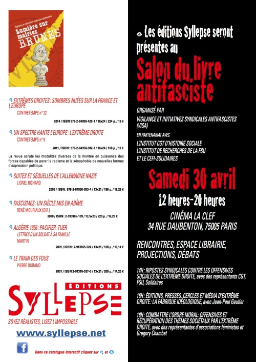 Salon du livre antifasciste A