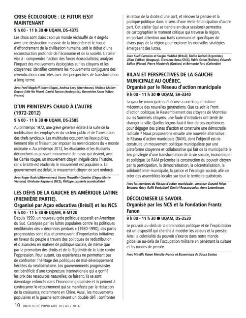 Programme_UPOP 10