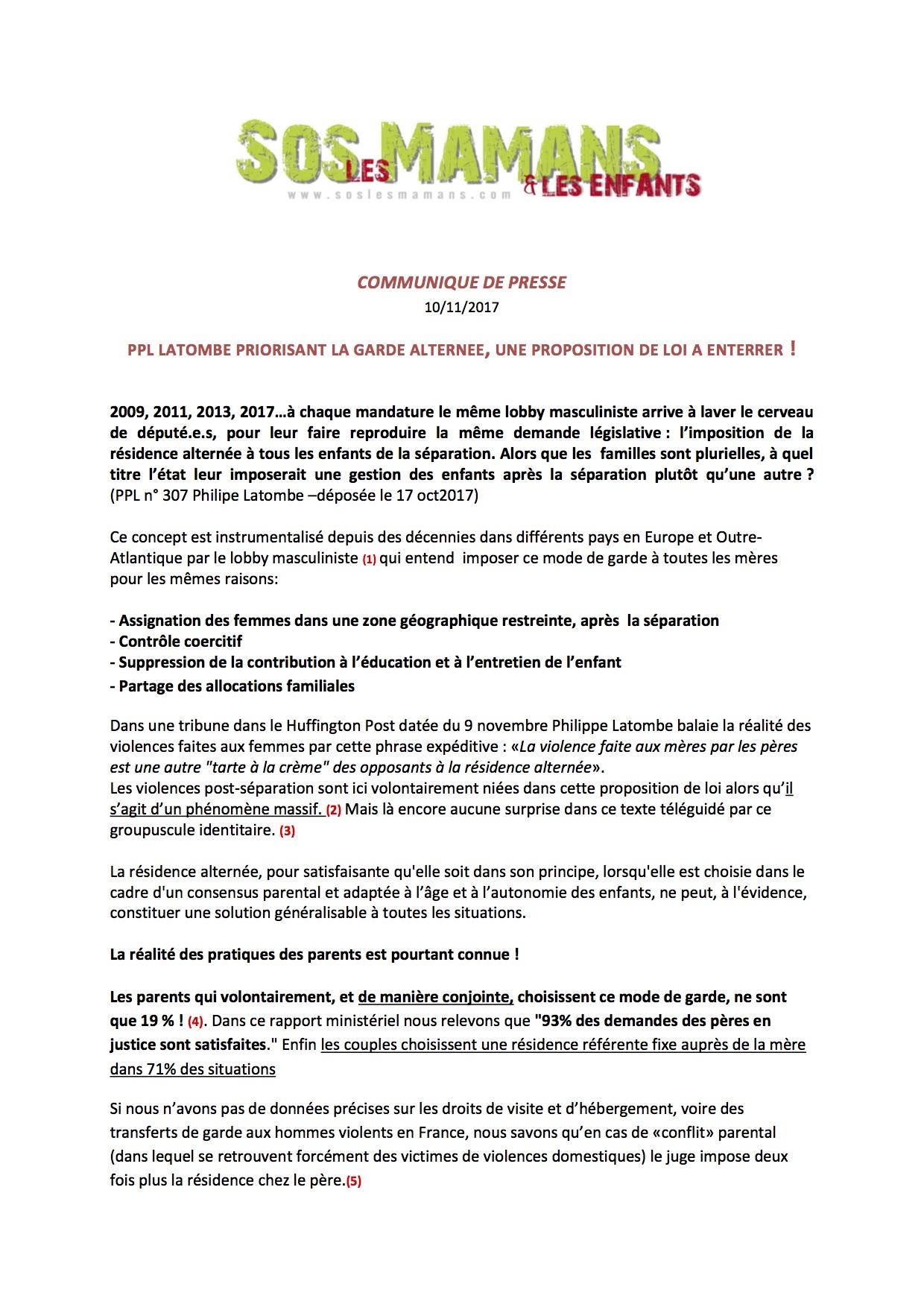 Favori Communiqué de presse du CNDF contre la proposition de loi 307 sur  UK56