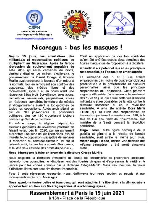 Communiqué - Appel au 19 juin (CSPN-FAL-CNO)